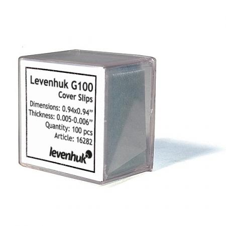 Krycie sklíčka Levenhuk G100 100 ks