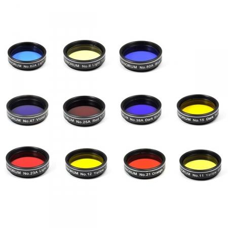 """Sada farebných filtrov Binorum 11 kusů 1.25"""""""