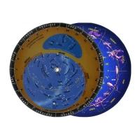 Otočná mapa hviezdnej oblohy 12.5x12.5cm