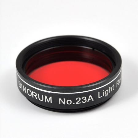 "Filter Binorum No.23A Light Red (Svetlo červený) 1.25"""