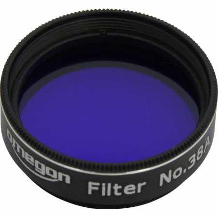 Filter Omegon #38A 1,25″colour, dark blue