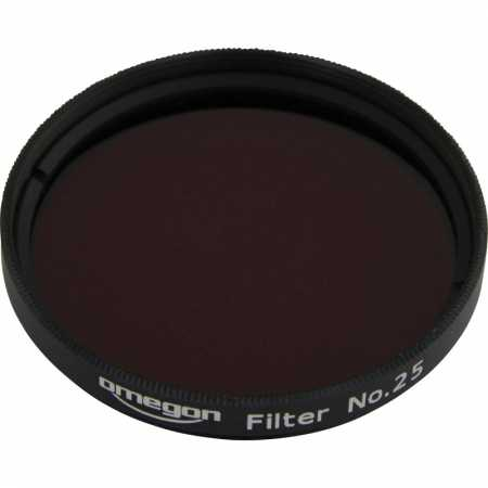 Filter Omegon #25 2″ colour, red