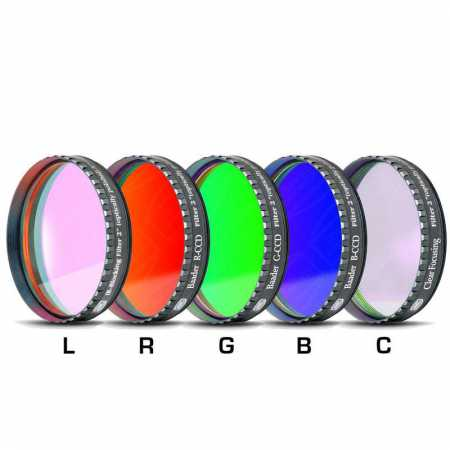 Filter Baader Planetarium LRGBC-H-alpha 2″ 35nm, OIII and SII set