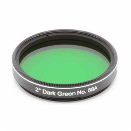 Filter Explore Scientific Dark Green #58A 2″