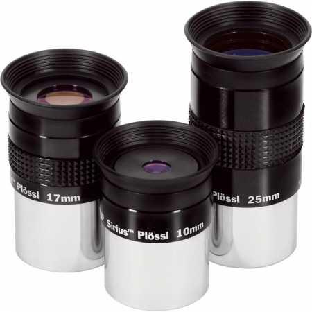 Eyepiece Orion Sirius Plössl Okular Starter Set