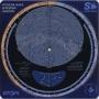 Otočná mapa hviezdnej oblohy 20x20cm