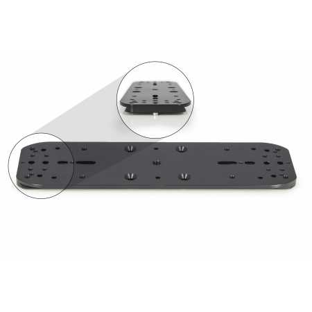 """Baader Planetarium double mounting plate and holder for guidescope rings (I & II), 300mm with 3"""" dovetail"""